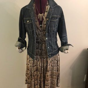 Snakeskin print jersey dress H&M - Sz S